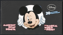POLAND 2013, Occasional Album With Stamps, Walt Disney, Mickey Mouse, Pluto, Goofy, Daisy, FDC + Block MNH ** - Cinema