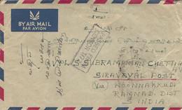 Malaysia 1957 Penang Censored Cover - Federation Of Malaya