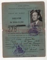 EMPIRE CHERIFIEN / PROTECTORAT REPUBLIQUE FRANCAISE AU MAROC - 1954 RABAT - CIRCULATION DES VOITURES DE PLACE / TAXI - Historical Documents