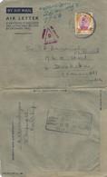 Malaysia 1953 Kuala Lumpur Censored Cover - Federation Of Malaya