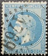 N°29B. Napoléon 20c Bleu. Oblitéré Losange G.C. N°1769 Le Havre - 1863-1870 Napoleone III Con Gli Allori