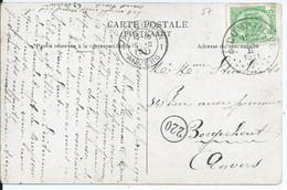 Fantasiekaart Met OCB 83 - Afstempeling CUMPTICH - COBA 50 - 1893-1907 Coat Of Arms