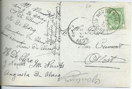 Fantasiekaart Met OCB 83 - Afstempeling HEUSDEN (VL) - COBA 15 - 1893-1907 Coat Of Arms