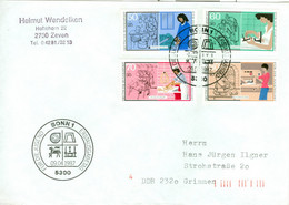 BRD 1315/18 Auf FDC In Die DDR - FDC: Covers