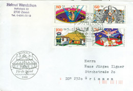 BRD 1411/14 Auf FDC In Die DDR - FDC: Covers