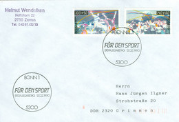 BRD 1449/50 Auf FDC In Die DDR - FDC: Covers
