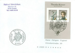 BRD Block 25 Auf FDC In Die DDR - FDC: Covers
