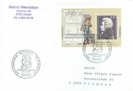 BRD Block 26 Auf FDC In Die DDR - FDC: Covers
