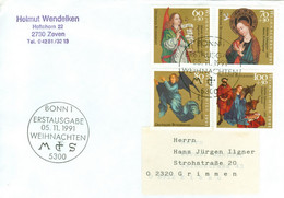BRD 1578/81 Auf FDC In Die DDR - FDC: Covers