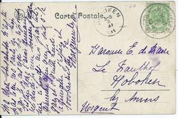 Fantasiekaart Met OCB 83 - Afstempeling MECHELEN 1 - 1893-1907 Coat Of Arms