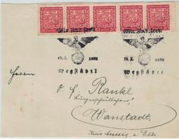 BVS WIr Sind Frei - 19.X.1939 Wegstädtl - Storia Postale