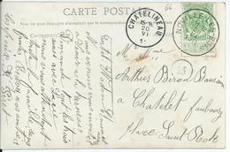 Fantasiekaart Met OCB 83 - Afstempeling NOVILLE-LES-BOIS - COBA 15 - 1893-1907 Wappen