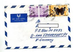 Lettre Cachet Bangkok Sur Roi Papillon - Thaïlande
