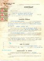 INDOCHINE / VIETNAM CONTRAT SECRETAIRE ENSEIGNEMENT FR A DALAT . 1951 +TIMBRES FISCAUX - Documentos Históricos