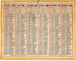 CALENDRIER GF 1945 - Sans Texte Et Sans Photo-image, édition Des P&T - Big : 1941-60