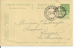 5c-postkaart -- Afstempeling AERSEELE Type 2L - COBA 8 - 1893-1907 Wappen