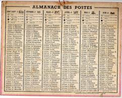 CALENDRIER GF 1947 - Sans Texte Et Sans Photo-image, édition Des P&T, Imprimeur Oberthur Rennes - Big : 1941-60
