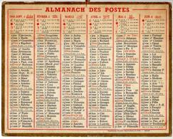 CALENDRIER GF 1948 - Sans Texte Et Sans Photo-image, édition Des P&T, Imprimeur Oberthur Rennes - Big : 1941-60