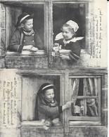 Couple D'Enfants, Bretagne - Série Complète: La Fleur Qui Ment - Collection E. Hamonic 2851 à 2855 - Lot De 5 Cartes - Collections, Lots & Series