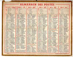 CALENDRIER GF 1951 - Sans Texte Et Sans Photo-image, édition Des P&T, Imprimeur Oberthur Rennes - Big : 1941-60