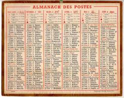 CALENDRIER GF 1952 - Sans Texte Et Sans Photo-image, édition Des P&T, Imprimeur Oberthur Rennes - Big : 1941-60
