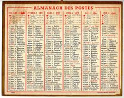 CALENDRIER GF 1954 - Sans Texte Et Sans Photo-image, édition Des P&T, Imprimeur Oberthur Rennes - Big : 1941-60