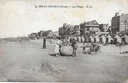 59 - NORD - BRAY DUNES - LA PLAGE ANIMEE - Chocolat Delespaul-Havez  GROS BALLON PUBLICITAIRE - Bray-Dunes