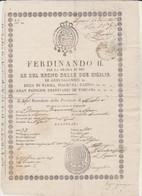 ITALY Passport 1847 Passeport ITALIE– Reisepaß ITALIEN - Historical Documents