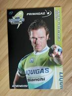 Cyclisme - Carte Publicitaire PRIMAGAZ : CIPOLLINI - Equipe LIQUIGAS 2005 - Ciclismo