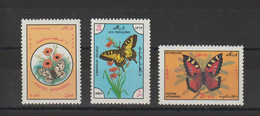 Afghanistan 1983 Papillons 1121-1123 3 Val ** MNH - Afghanistan