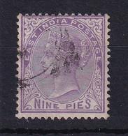 India: 1874   QV    SG77    9p  Bright Mauve      Used - 1858-79 Crown Colony