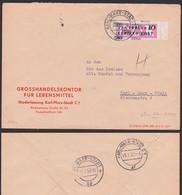 Karl-Marx-Stadt ZKD-Brief B14(1500) EF Randstück, GHG Lebensmittel Ortsbrief Germany East DDR - Service