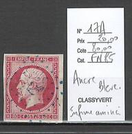 France - Yvert 17A - Napoléon 80 Cts - Cachet Ancre Bleue - 1849-1876: Periodo Classico