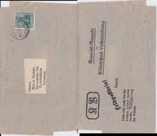 DR Germania Mi 85 Perfin Filo Firmenlochung AuslDS Köln 1919 - Storia Postale