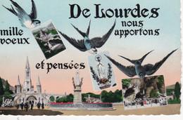 LOURDES: Lot De 40 Cartes Postales Semi Modernes Et Variées FRANCE: LOURDES, Voir Les Scans. - 5 - 99 Postcards