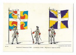 Régiment D'Auxerrois  Lieutenant  Régiment D'Agenois 1740 Imagerie Pellerin Epinal - Uniformen