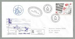 1986 TAAF / FSAT TIMBRE PA 95 SUR PLI IAGO - INTERACTION ATMOSPHÈRE GLACE OCÉAN - Covers & Documents
