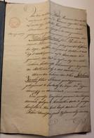 OUD DOKUMENT GEMEENTE WYNKEL LOCHRISTI 18??   ZIE AFBEELDINGEN - Historical Documents