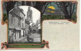 76 - HARFLEUR - Le Clocher Et Vieilles Maisons - LL - Cliché Rare - Harfleur