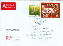 Lettland 609/10 Auf R-Brief Nach Deutschland - Latvia