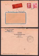 Berlin O17 Verwaltungswertpost 2.3.1954 Mit Freimarken, Funk- U. Fernmeldeanlagen, Zentraler Kurierdienst Der DDR - Service
