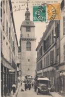 57) THIONVILLE : Le Beffroi Et La Rue Neuve (animée) (1925) - Thionville