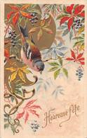 P21-TBB-864 : CARTE ILLUSTREE  OISEAU. RELIEF. GAUFREE. EMBOSSED - Oiseaux