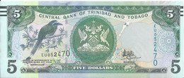 TRINITE ET TOBAGO - 5 Dollars (série 2006) - 2017 UNC - Trinidad & Tobago