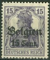Landespost In Belgien 15 * Nachgummiert - Occupation 1914-18