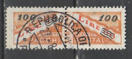 San Marino 1948 - Pacchi Postali 100 Su 50 L.          (g7454) - Paquetes Postales