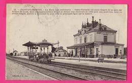 CPA (Réf: Z 3743) (TRANSPORTS TRAINS) Gare De Saint-Florentin Avec Wagons - Stazioni Con Treni