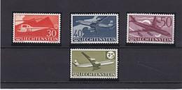 Liechtenstein 1939 Cat. Yvert N° PA 34/37 ** - Air Post
