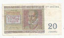 Billet , BELGIQUE ,TRESORERIE ,01-07-50 ,1950, Vigt ,20 Francs ,2 Scans - 20 Francs