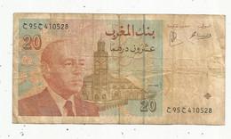 Billet , MAROC , Bank Al-Maghrib , 20 Dirhams , 1416-1996 , 2 Scans - Morocco